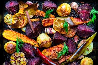 Poster Gebratenes Gemüse