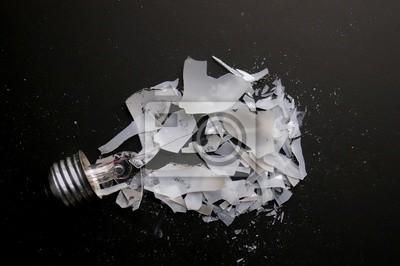 gebrochene Glühbirne