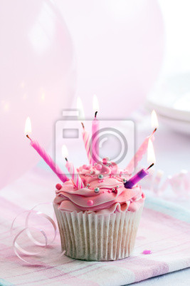 Geburtstag Cupcake Wandposter Poster Streuseln Cupcakes