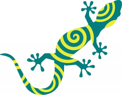 Poster Gecko with circles