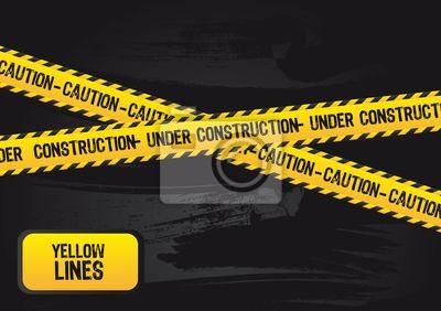 Poster gelben Linien