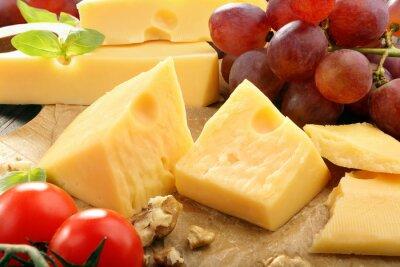 Poster Gelber Käse-Zusammensetzung auf der Käseplatte