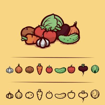 Poster Gemüse eingestellt