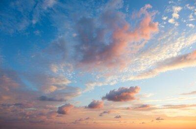 Poster Gentle Himmel Hintergrund bei Sonnenuntergang, natürlichen Farben, kann verwenden