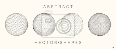 Poster Geometric shape for design. 3d technology style.