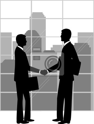 Poster Geschäftspartner