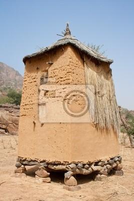 Getreidespeicher in einem Dogon Dorf, Mali (Afrika).