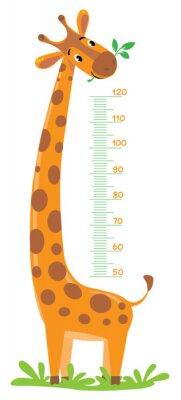 Poster Giraffe Meter Wand