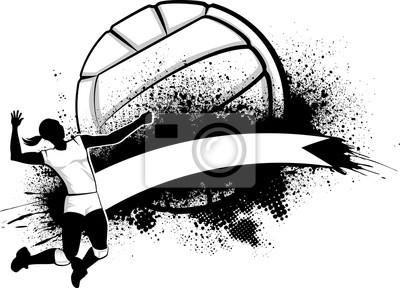 Poster Girl Volleyball Grunge Banner