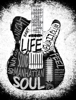 Poster Gitarre Vektor-Grafik-Design