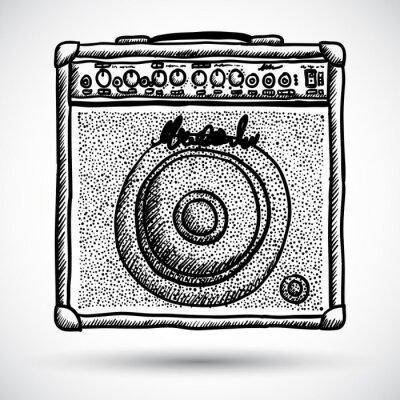Poster Gitarren-Combo-Verstärker Vector Illustration