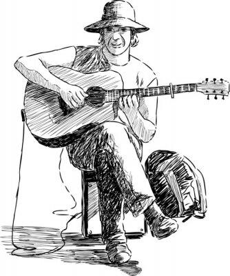Poster Gitarrist