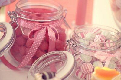 Poster Glas mit Süßigkeiten