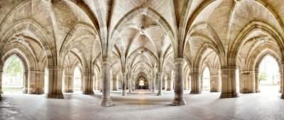 Poster Glasgow University Cloisters Panorama