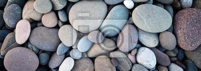 Poster Glatter runder Kieselsee-Beschaffenheitshintergrund der Web-Fahnenzusammenfassung