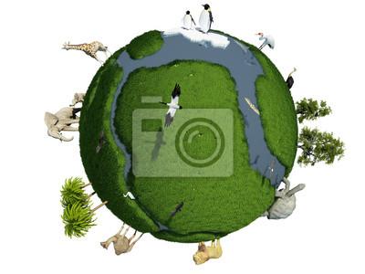Globus mit Tieren