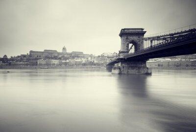 Poster Gloomy Winter Bild der ungarischen Sehenswürdigkeiten,