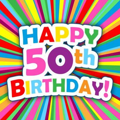 Karte 50 Geburtstag.Poster Glucklicher 50 Geburtstag Karte Party Einladungskarte Meldung