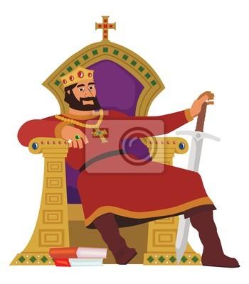 Glücklicher König AUF WEIß