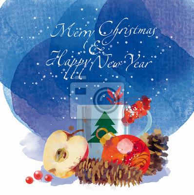 glückliches neues Jahr Frohe Weihnachten Deko