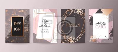Poster Gold, rosa Broschüre, Flyer, Einladung, Karte