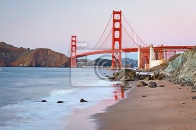 Golden Gate Bridge nach Sonnenuntergang, San Francisco