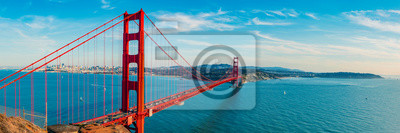 Poster Golden Gate Bridge panorama, San Francisco California