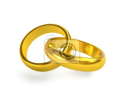 Goldene Hochzeit Ring Wandposter Poster Ehering Allianz