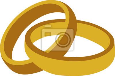 Poster Goldene Hochzeit Ringe