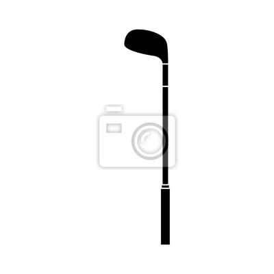 Poster Golfschläger Stock Ausrüstung Sport Objekt Symbol Vektor-Illustration