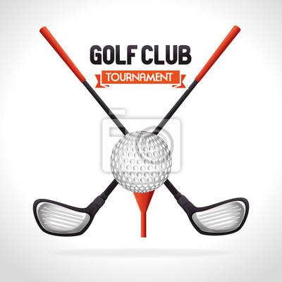 Poster Golfturnierentwurf