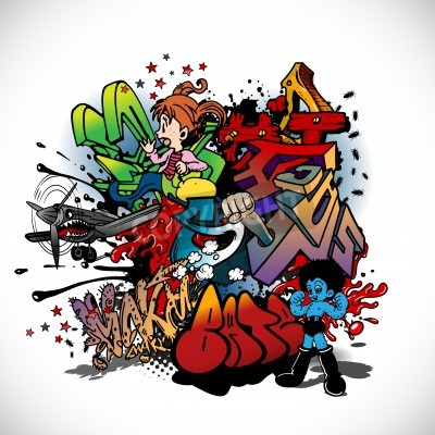 Poster Graffiti, urban art