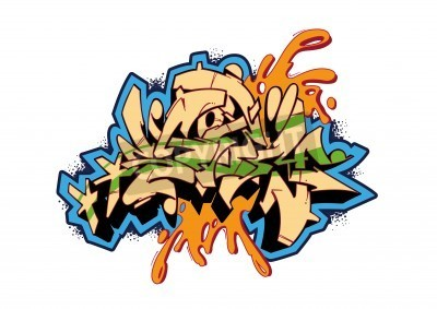 Poster Graffiti vector sketch design, word STORM. This is my illustration.