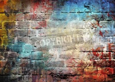 Poster Graffiti-Wand Hintergrund
