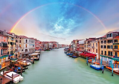 Poster Grand Canal - Venedig von der Rialto-Brücke