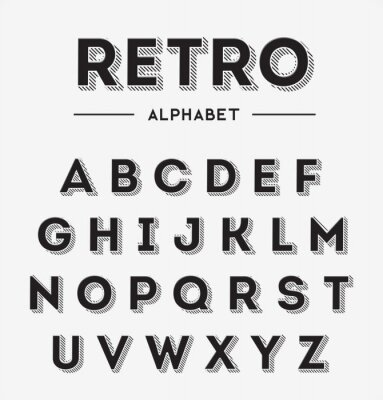 Poster Graphic Retro Letters set