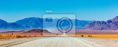 Poster Gravel road in Namibia - panorama - Africa