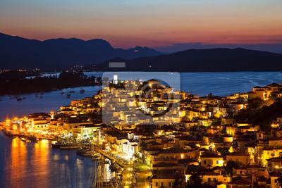 Griechischen Insel Poros in der Nacht, Griechenland, 2009