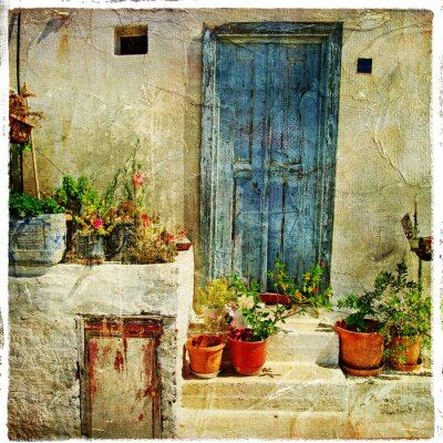 griechischen Straßen, künstlerische Bild