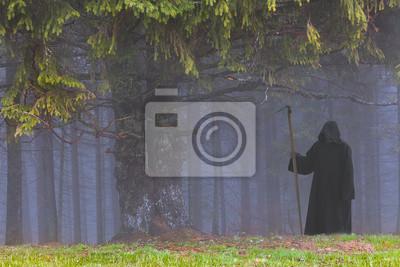 Grim Reaper in den nebligen Wald