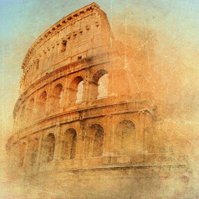 große antike Rom - Kolosseum, Kunstwerk im Retro-Stil