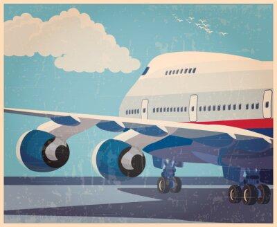 Poster Große Zivilflugzeug-altes Plakat