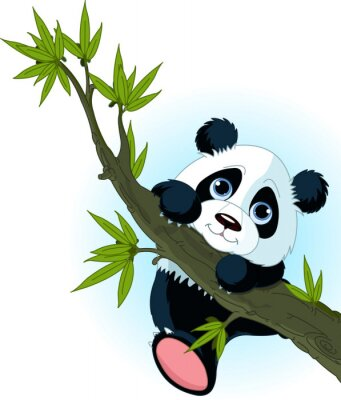 Poster Großer Panda Kletterbaum