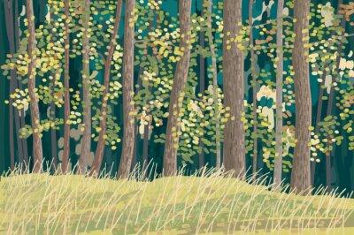 Poster Grüner Wald