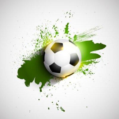 Poster Grunge Fußball / Fußball Hintergrund