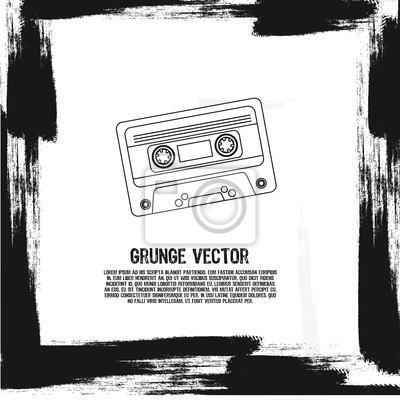 Poster Grunge-Kassette