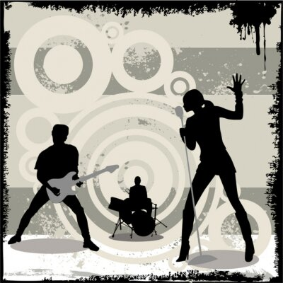 Poster Grunge-Vektor-Konzert