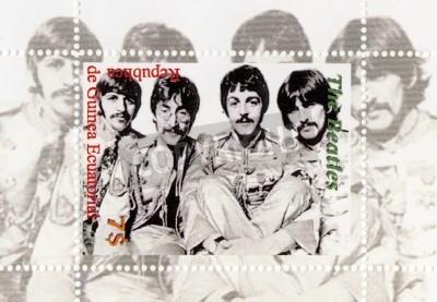 Poster Guinea - CIRCA 1996: The Beatles - 1960er berühmten musikalischen Pop-Gruppe