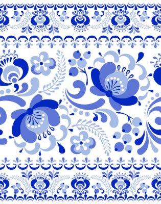 Poster Gzhel seamless pattern