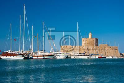 Hafen von Rhodos, Griechenland.